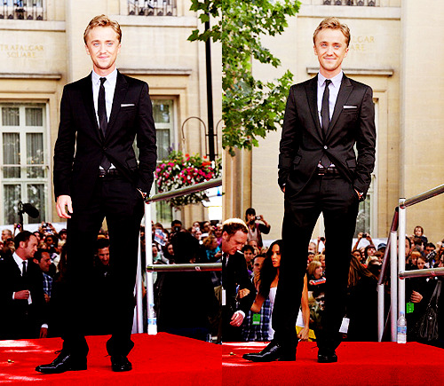 vasymollo:  Tom Felton at the world premiere of Harry Potter and the Deathly Hallows Part 2
