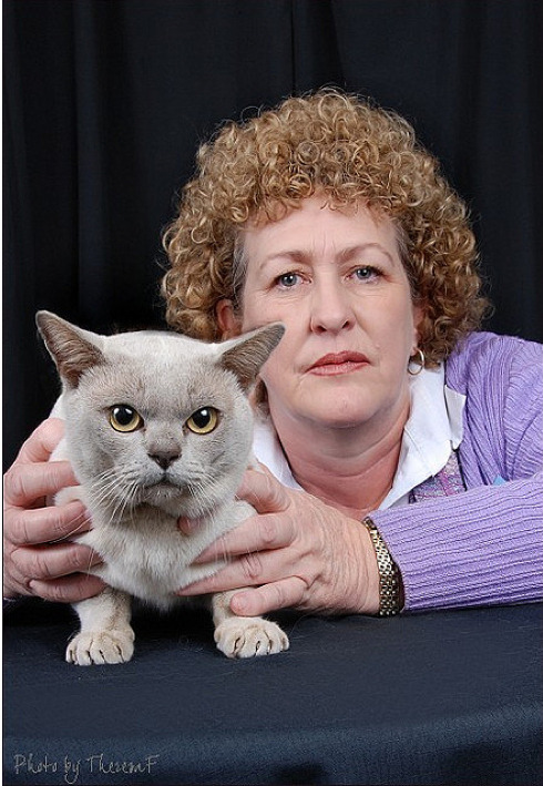 Portraits Of Cat Show Winners & Their Owners