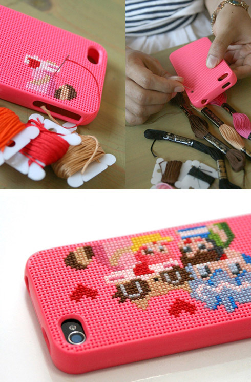 lissabookjunkie:  wildandpeaceful:  DIY iPhone 4 Case from Connect Design   How wrong is it that THIS is the reason I've finally decided to convert to the iPhone?  DIY fully customizable cross stitch case?  Hells yeah MF'ers!  I really, really want one, but I have a 3GS /creys