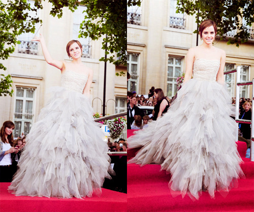 Emma Watson at the world premiere of Harry Potter and the Deathly Hallows Part 2.