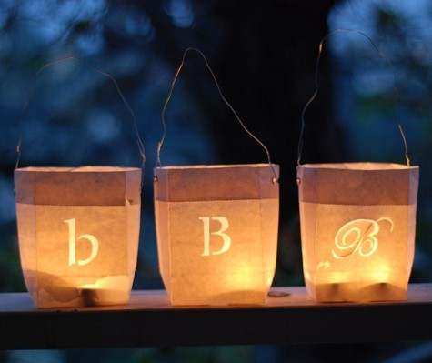 DIY Paper Bag Lanterns. via designsponge I might just do this for our wedding…hmmmm.