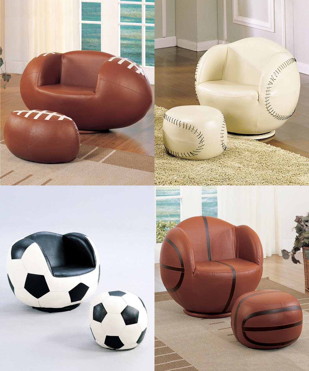 A kid's room is their palace and these sporty chairs are as special as thrones.
