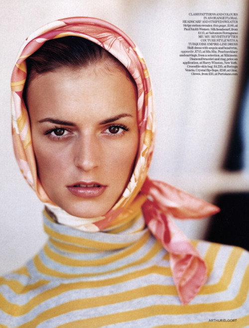 """American Classics"" Vogue UK, April 2004 photographer: Arthur Elgort Jacquetta Wheeler the Fashion Spot - Vogue UK Under Alexandra Shulman: 1992 to …."