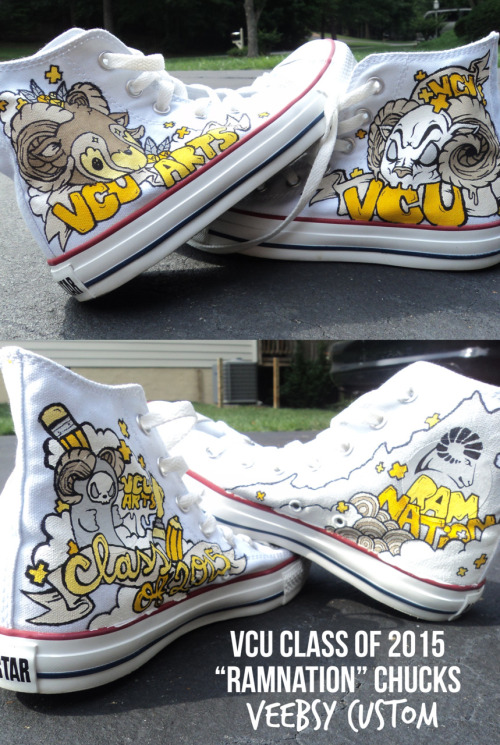 "VCU Arts - Class of 2015 ""Ramnation"" Chucks 