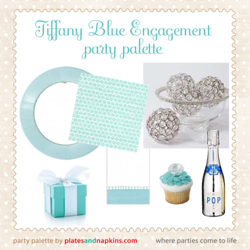 Nothing is more appropriate for an engagement party than Tiffany Blue. The crisp, clean Tiffany blue color mixes gorgeously with platinum and crystal accents on a clean background of pure white. Pull together the perfect party with Bling Champagne and faux diamond accents. Centerpieces are easy with crystal bowls filled with baubles of bling. Items pictured: Robin's Egg Blue Paper Plates, Robin's Egg Pearl Napkins and Robin's Egg Linen Guest Towels and Faux Diamond cupcake toppers all available at PlatesAndNapkins.com