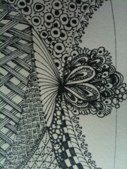 Whoever came up with Zentangle is making a ton of money by giving people permission to doodle. Why couldn't I have thought of that?