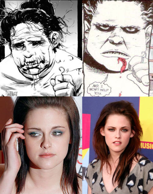Neil Gaiman's The Sandman Fantasy Casting Despair- Kristen Stewart I was just thinking, hmmm… Who is an actress who makes me what to slit my wrists or just always looks depressing? And then it hit me.