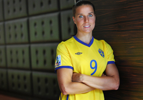 Say hello to the wonderful (and out) women of the Women's World Cup, ladies. You're a hottie, No. 9.