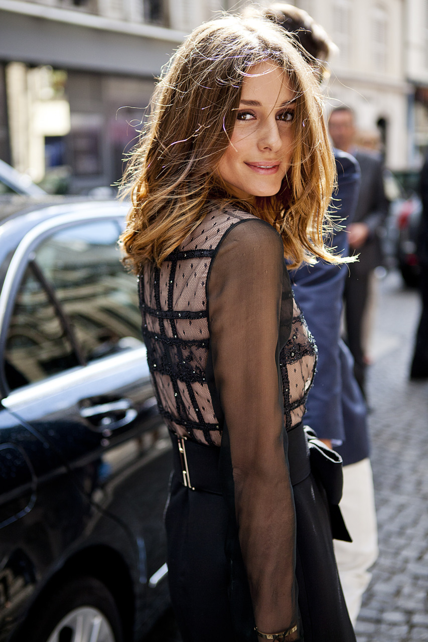 Olivia Palermo, after Valentino, Paris Couture shows.