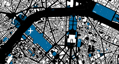 about [map=yes]: We've chosen a series of cities that we think are representative of the wide range of coverage that's available in Open Street Map, and also for their expressive potential. New York reveals a cluster of interest in downtown Manhattan and Roosevelt Island, without much else of distinction except the freeways. Paris sprawls densely along the Seine with enormous parks to the east and west of the city center. Toronto hugs Lake Ontario with parks like veins threading back away from the shoreline. Cities have character, and this is reflected in more than just their streetscapes or their skylines—it's reflected in how they're mapped by volunteers. A collaboration betweenMapQuest Open and Stamen Design, using data from the OpenStreetMap project.