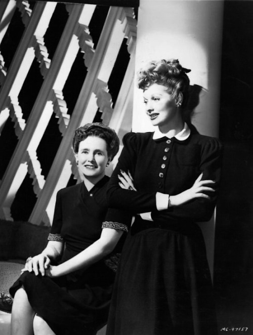 Lucy and her mother DeDe (1940s)