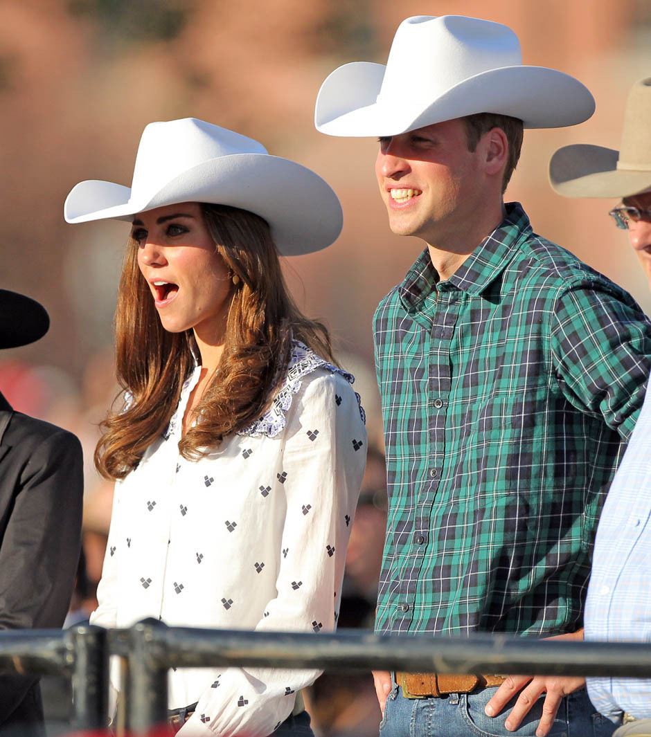 Will and Kate cowboyed it up in Calgary Thursday after a short period  where, gasp, people thought they might not wear cowboy hats. (Stuart  Gradon/Postmedia News) More photos here.