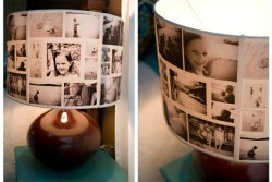 DIY Photo Lamp Shade via AshleyAnnPhotography.com