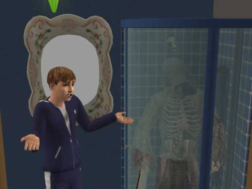 simsgonewrong:  DEATH TAKES A SHOWER