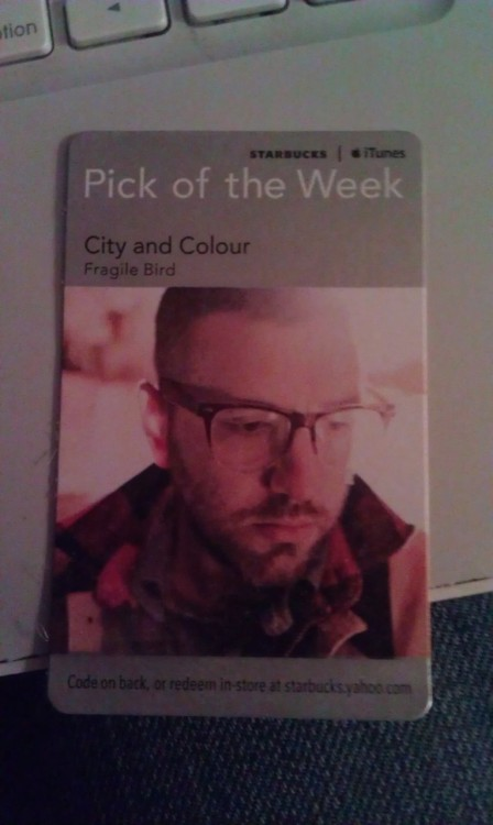 Picked this up at Starbucks today…good job Dallas Green! Downloaded the song, the music itself is a little different than what I'm used to from city and colour but the vocals are mesmerizing as always.