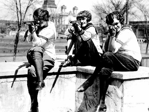 coolchicksfromhistory:  Minneapolis Park Board girls rifle team, circa 1920.