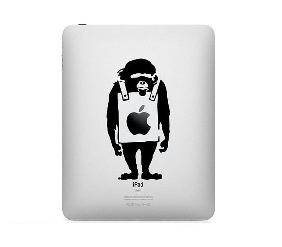 Some sweet Banksy MacBook and iPad decals over on Etsy. (via Uppgrader)
