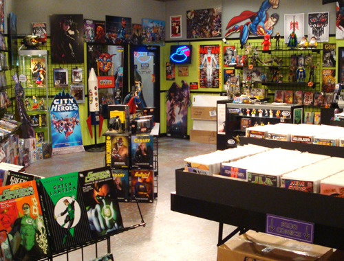 Big Bang Theory: comic book store