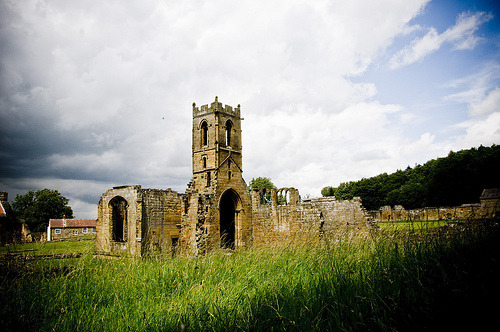 The Priory (by zach.stone) Mount Grace Priory, a Carthusian Monastery in Yorkshire, home of Nicholas Love, author of the Mirror of the Blessed Life of Christ. Now a ruin but one of the most evocotive places I have been. More on this later