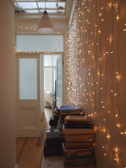 joost5:  I keep a string of white lights above my bookcases in the office year round. Magical.  I have a certain somebody in my life that always keeps our home fully festive. No matter the season or occasion, she always manages to find a certain flair to decorate and celebrate. I love her. She's pretty special.