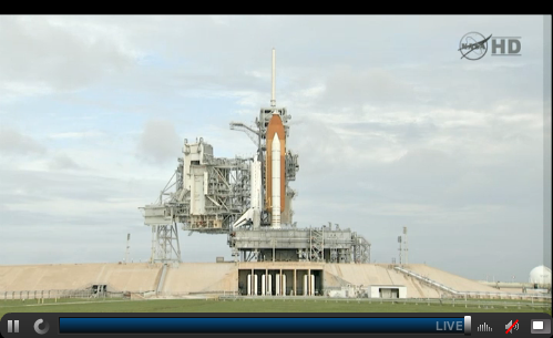 Watching the live stream of the final space shuttle launch.  Hopefully the weather will cooperate!  Fingers crossed