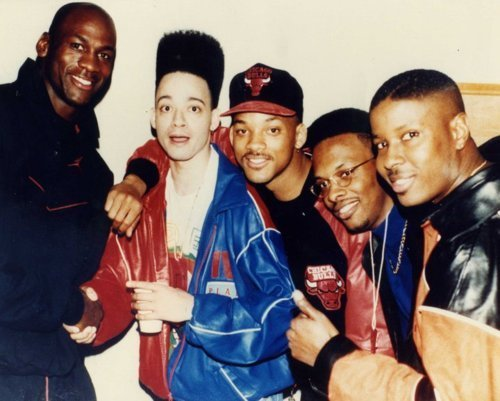 nbammkay:  Here we have Michael Jordan, Kid n' Play, Will Smith and DJ Jazzy Jeff. // Like NBAmmkay on Facebook