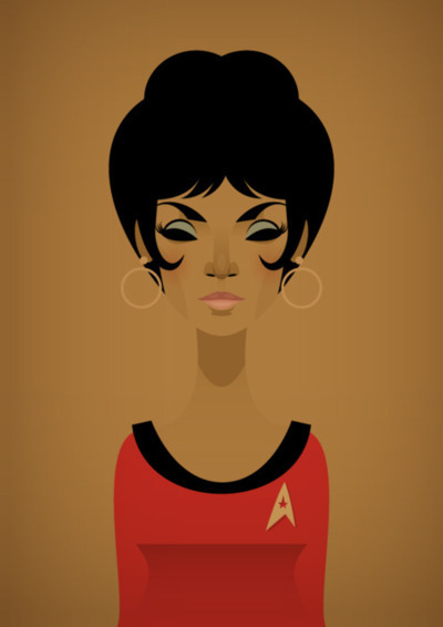 very cool rendering of Lt. Uhura.