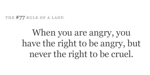 The #77 Rule of a Lady