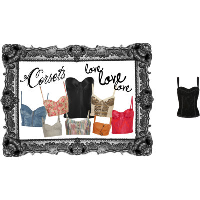 Corset Love by theandymonster featuring a zipper shirtBlouson Noir bra top£330 - brownsfashion.comEnder Legard Corsetry blouse$720 - net-a-porter.comDolce Gabbana lace shirt£360 - brownsfashion.comVivienne Westwood Red Label smocked shirt£246 - theoutnet.comAll Saints vintage top$120 - allsaints.comTopShop zipper shirt$80 - topshop.comTopShop corset top$44 - topshop.comTopShop flower shirt$40 - topshop.comAll saint$150 - allsaints.com
