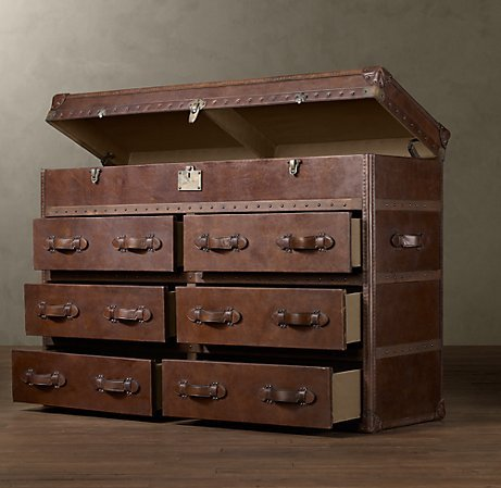 MAYFAIR STEAMER DOUBLE CHEST VINTAGE CIGAR LEATHER