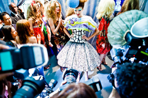 styledon:  This is such an awesome picture from backstage at the Dior couture fall 2011 show – so much going on here! Posted by StyledOn member DedeHutch.