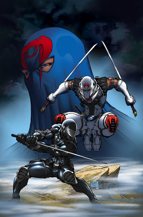 Snake Eyes vs Storm Shadow - By Michael Turner (RIP 1971-2008)