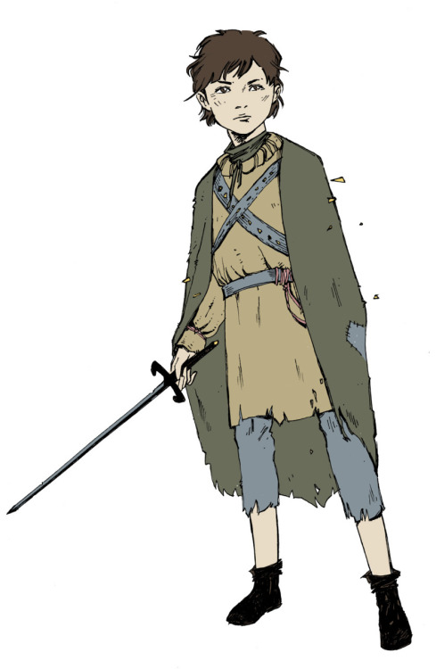 Arya Stark, because she's awesome, with some lazy colour thrown. This is fan art, Arya belongs to Martin and HBO (or someone), not me.
