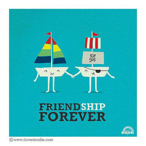 threadless:  FriendShip Forever by  Lim Heng Swee is up for voting!