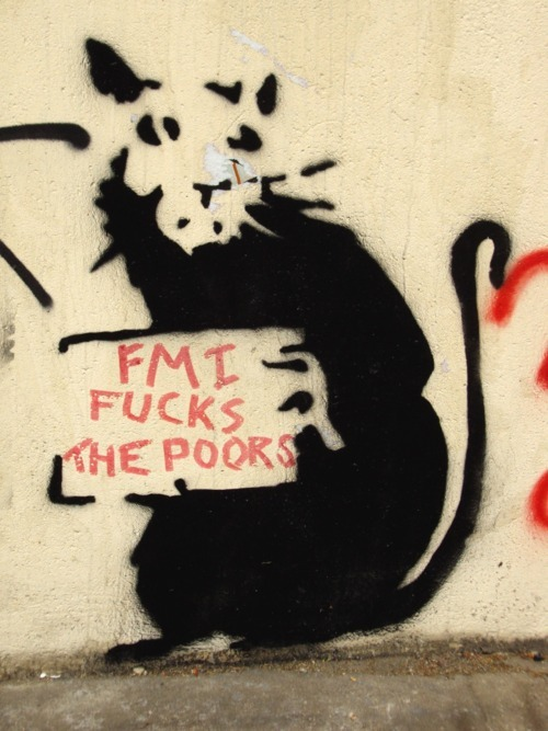 The IMF fucks {over,up} the poor