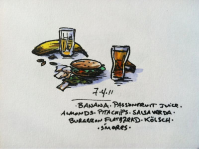 7/4/11 underwhelming 4th #doodlediet