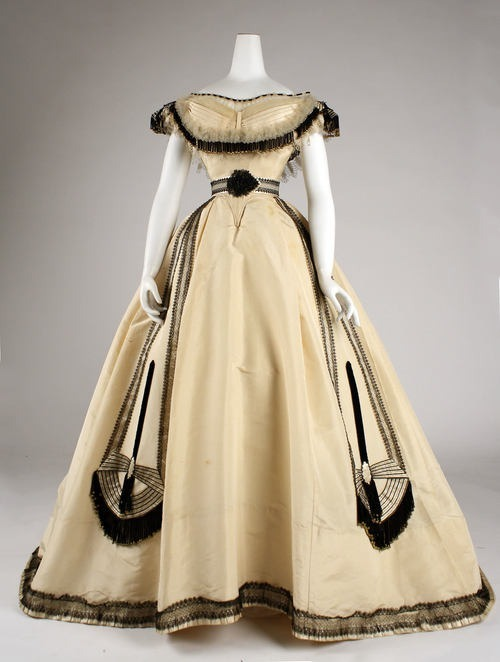 omgthatdress:  Emile Pingat ball gown ca. 1860 via The Costume Institute of the Metropolitan Museum of Art