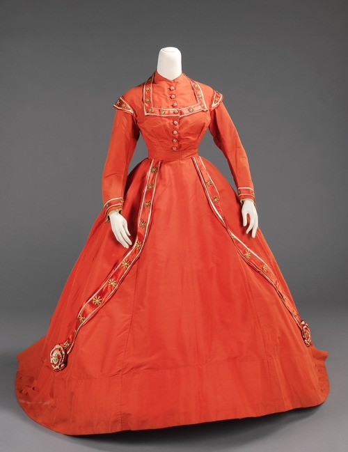 omgthatdress:  Afternoon dress ca. 1865 via The Costume Institute of the Metropolitan Museum of Art
