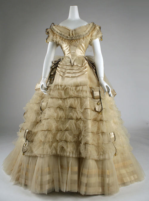 omgthatdress:  Emile Pingat dress ca. 1860 via The Costume Institute of the Metropolitan Museum of Art