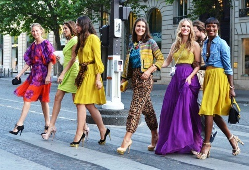 Margherita Missoni in [a colorful] transit, during Paris Couture Fashion Week. As captured by Tommy Ton.