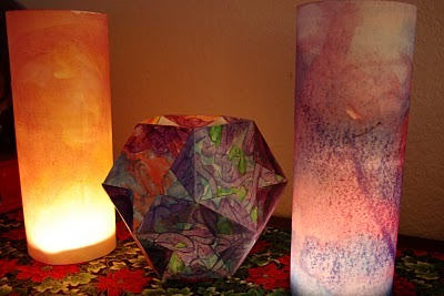 (via Mom's Crafty Space: Solstice Lanterns {Tutorial})