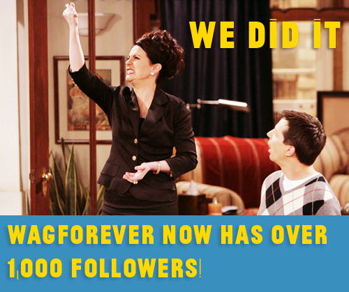 WE DID IT! Thank you so much, everyone! We're reached over 1,000 followers! This is so amazing, I never thought this blog would go anywhere! Over 1,000 WAG fans united! :D So now *drum roll, please* the store:  Here's the status: I've opened the account and it's very much set up, all I have to do now is finish designing the actual content. Be patient, though! I promise, it's coming! I've been busy, but I haven't forgotten!  Thanks so much! Love, Alex (Hey, have you checked out Calcium Pushers Anonymous?) P.S. Sorry for the lack of posts, I'm generally lazy, but vacation really makes me lazy. Plus, the internet here is awful at best. Sorry.