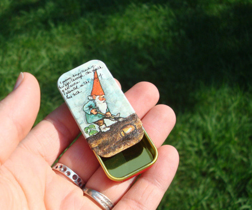 Woodland Gnome Tins by Hollyrocks on Flickr.