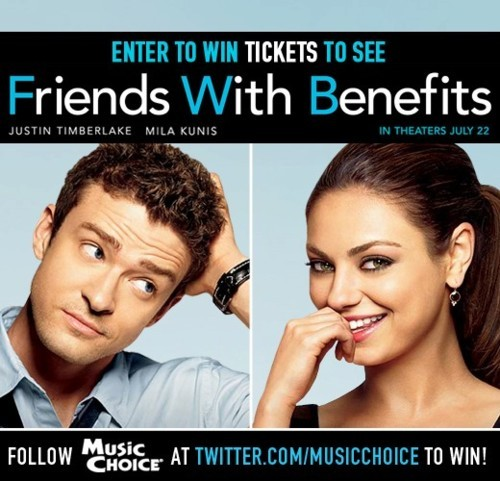 mcmusicchoice:  Win a chance to see Friends With Benefits in NY on Red Carpet World Premiere!