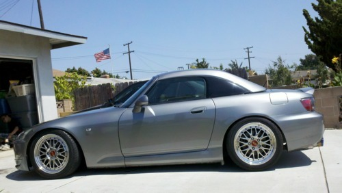 Danny's gangster s2k on some BBS wheels = legit.