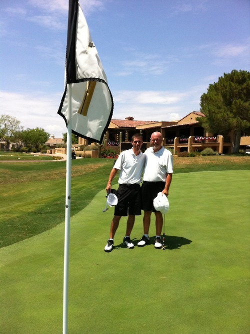My Dad & I on the 18th green at Pinnacle Peak Country Club.  Happy Birthday pal!
