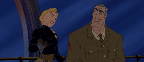 Helga and Rourke from Disney's Atlantis