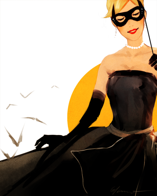 "discowing:  gabzilla-z:  always8remember:  ratherkris:  Stephanie Brown wears Christian Dior's ""Cygne Noir"" dress ca. 1949 for flyingbeds! Sorry I didn't do the other dress, I just thought this one was perfect for Steph. Hope it's alright! Have I mentioned how much I love all of your gorgeous requests?I love all of your gorgeous requests.   Oh, wow, this is beautiful! *A*  This is amazing *_*  ahhh  Beautiful."