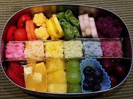 Healthy rainbow of deliciousness.  So pretty.