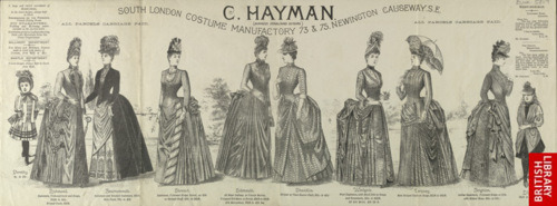 Ad for C Hayman, ca 1885